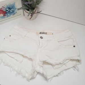 Brandy Melville white shorts S 40 =  4-6